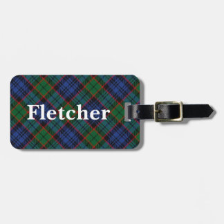 Old Scotsman Clan Fletcher Tartan Luggage Tag