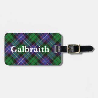 Old Scotsman Clan Galbraith Tartan Luggage Tag
