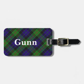 Old Scotsman Clan Gunn Tartan Luggage Tag