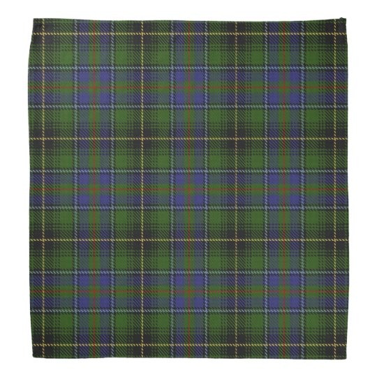 Old Scotsman Clan MacInnes Tartan Plaid Head Kerchief