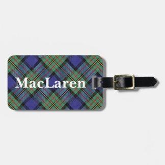 Old Scotsman Clan MacLaren Tartan Luggage Tag