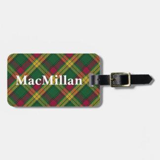 Old Scotsman Clan MacMillan Tartan Luggage Tag