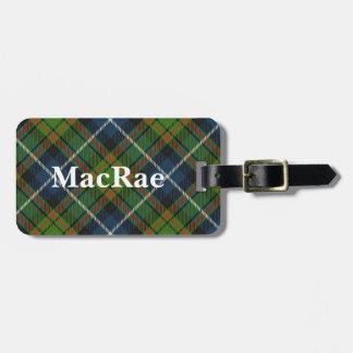 Old Scotsman Clan MacRae Tartan Bag Tag