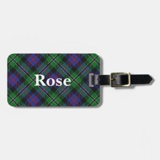 Old Scotsman Clan Rose Tartan Bag Tag