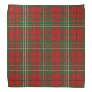 Old Scotsman Clan Scott Tartan Plaid Head Kerchief