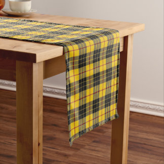 Old Scottish Clan MacLeod of Lewis Tartan Plaid Short Table Runner