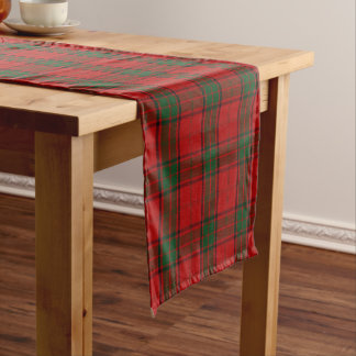 Old Scottish Clan Maxwell Tartan Plaid Short Table Runner