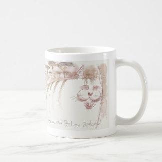 Old sepia tone Italian postcard cat Mug
