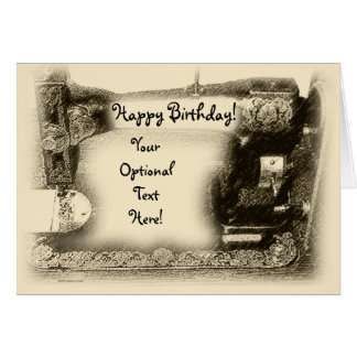 Old Sewing Machine Custom Card