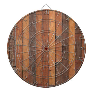 Old Shabby Wood Flooring Dartboard