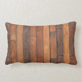Old Shabby Wood Flooring Lumbar Pillow