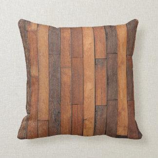 Old Shabby Wood Flooring Throw Pillow