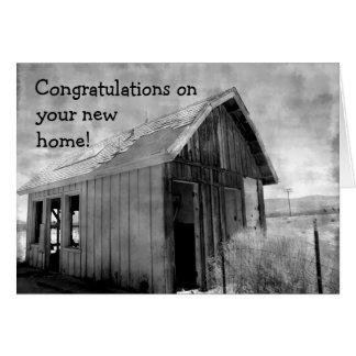 Old shack new home card