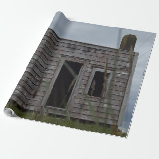 old shack wrapping paper