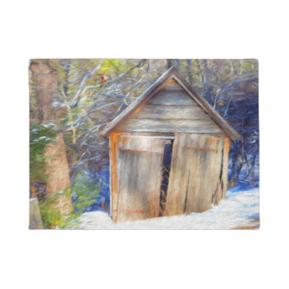 Old Shed Winter Doormat