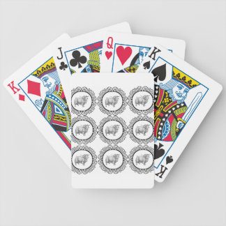 old sheep in bunch bicycle playing cards