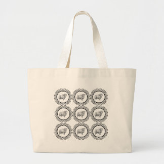 old sheep in bunch large tote bag