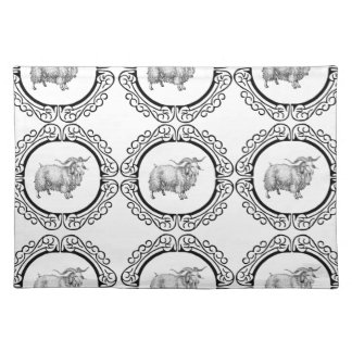 old sheep in bunch placemat