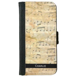Old Sheet Music Background. Personalise. iPhone 6 Wallet Case