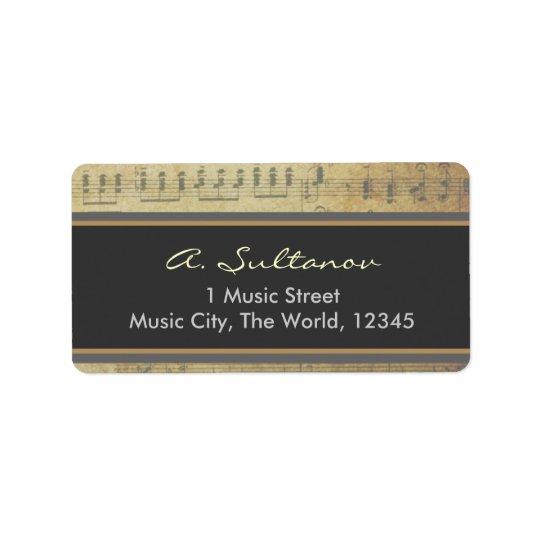 Old Sheet Music Label