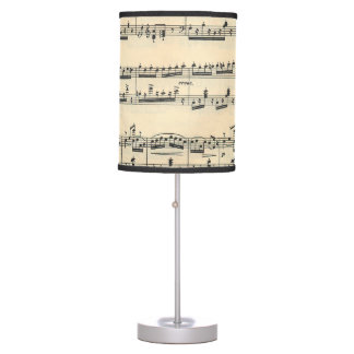 Old Sheet Music Table Lamp