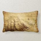 Old Ship Map Lumbar Pillow