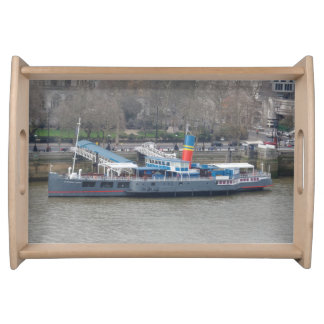 Old Ship on Thames Serving Tray