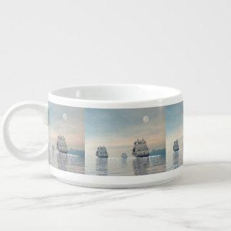 Old ships on the ocean - 3D render Bowl