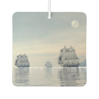 Old ships on the ocean - 3D render Car Air Freshener