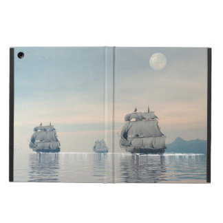 Old ships on the ocean - 3D render Cover For iPad Air