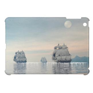 Old ships on the ocean - 3D render iPad Mini Case