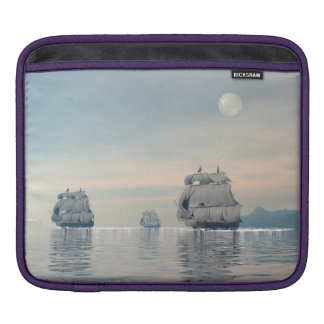 Old ships on the ocean - 3D render iPad Sleeve