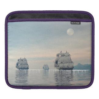 Old ships on the ocean - 3D render iPad Sleeves