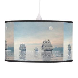 Old ships on the ocean - 3D render Pendant Lamp