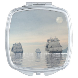 Old ships on the ocean - 3D render Travel Mirrors