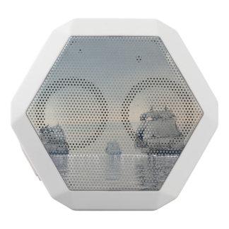 Old ships on the ocean - 3D render White Bluetooth Speaker
