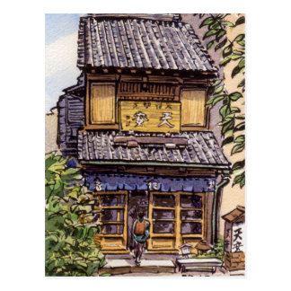 Old shop in Tokyo: Ten An Postcard