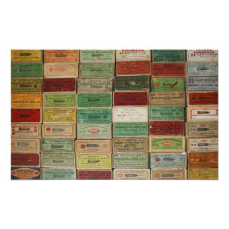 Old Shotshell Boxes Poster