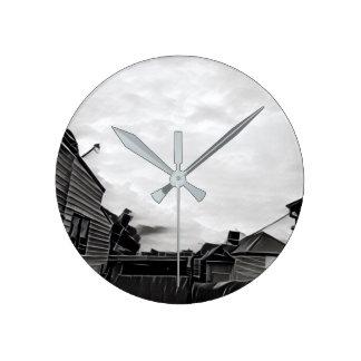 """Old skies"" black and grey Broken Hill Wall Clock"