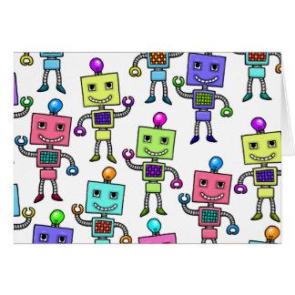 Old Skool retro Robots Card