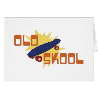 Old Skool Skateboard Greeting Card
