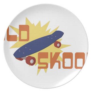 Old Skool Skateboard Plate