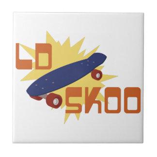 Old Skool Skateboard Tile
