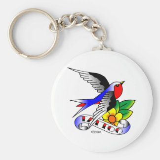 Old Skool Tattoo Swallow Keychain