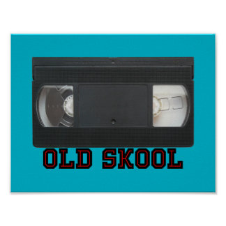 Old Skool - VHS Tape Poster
