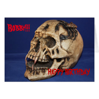 Old Skull Birthday  Card
