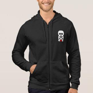 old skull sleeveless hoodie