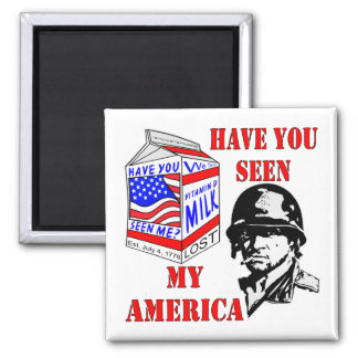 Old Soldier Have You Seen My Missing America Magnet