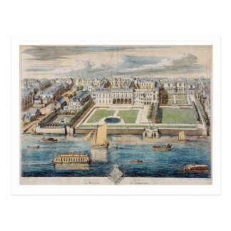 Old Somerset House on the Strand, engraved by Jean Postcard
