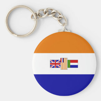 Old South African Flag Basic Round Button Keychain